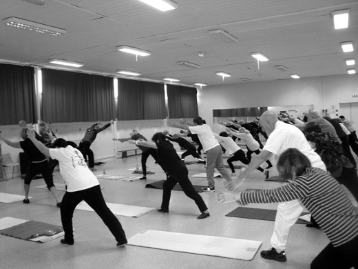 L'association gympilpo en cours de pilates